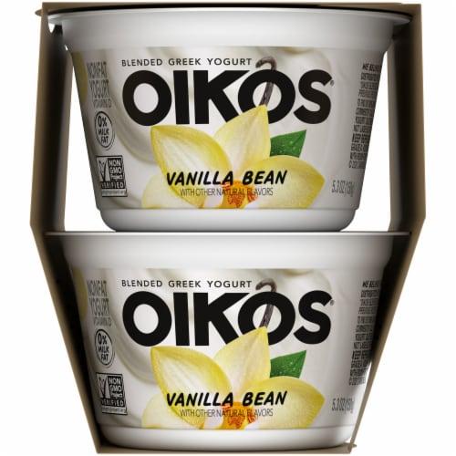 Oikos® Vanilla Bean Blended Greek Yogurt Perspective: right