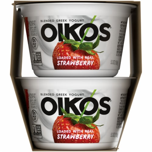 Oikos Strawberry Blended Greek Yogurt Perspective: right