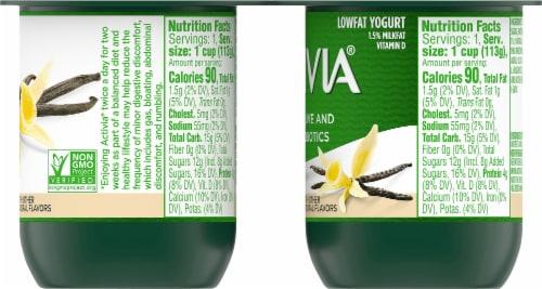 Activia Vanilla Probiotic Lowfat Yogurt Perspective: right