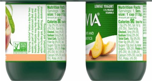 Activia Peach Lowfat Probiotic Yogurt (4 Pack) Perspective: right