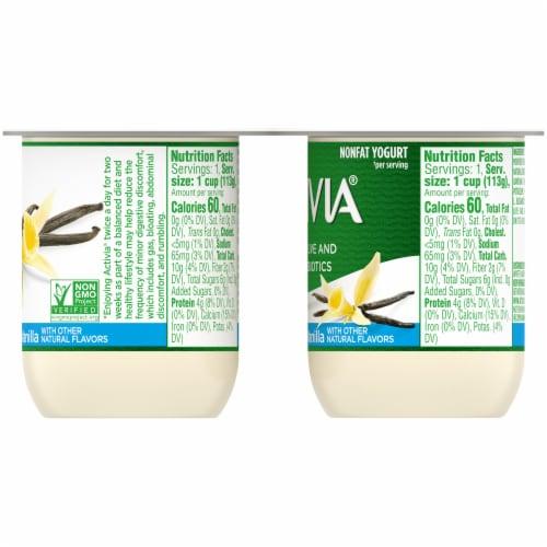 Activia Light Vanilla Nonfat Probiotic Yogurt Perspective: right