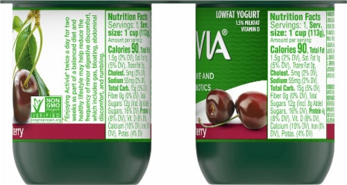 Activia Black Cherry Lowfat Probiotic Yogurt (4 Pack) Perspective: right