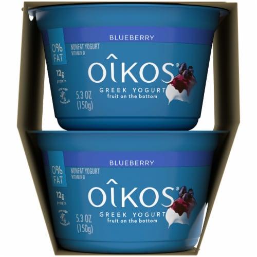 Oikos Fruit on the Bottom Blueberry Nonfat Greek Yogurt Perspective: right