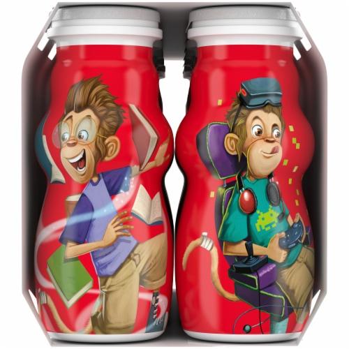 Danimals Smoothie Swingin' Strawberry Banana & Rockin' Raspberry Yogurt Smoothies Multipack Perspective: right