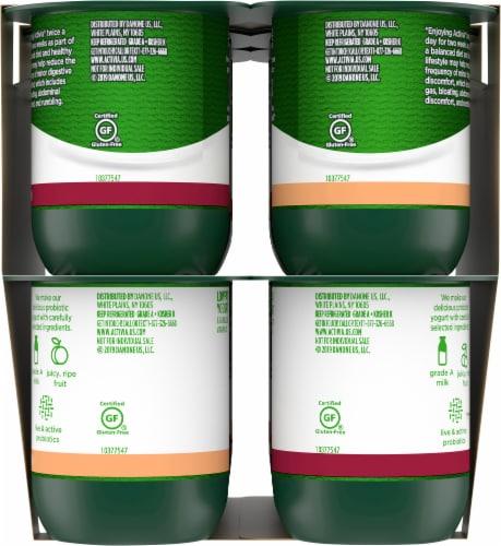 Dannon Activia Peach And Black Cherry Yogurt 12 Count Perspective: right