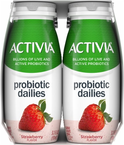 Activia Strawberry Probiotic Dailies Yogurt Drink Perspective: right