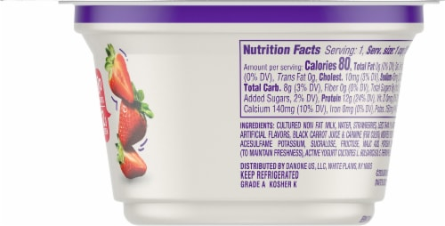 Dannon Light & Fit Strawberry Nonfat Greek Yogurt Perspective: right