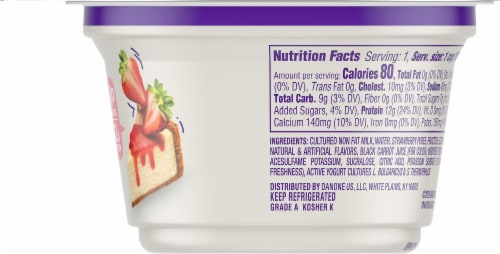 Dannon Light & Fit Strawberry Cheesecake Greek Yogurt Perspective: right