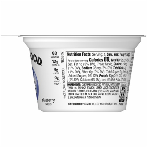 Two Good Blueberry Lowfat Greek Yogurt Perspective: right
