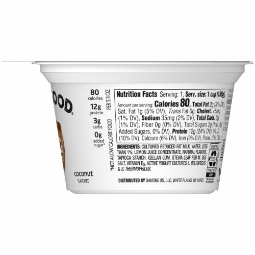 Two Good Coconut Flavored Lowfat Greek Yogurt Perspective: right