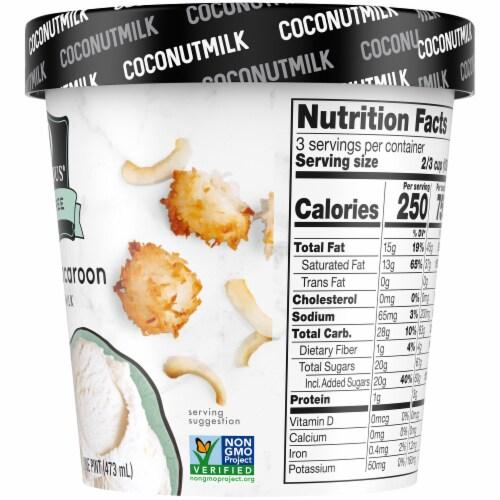 SO Delicious Dairy Free Coconut Macaroon Coconutmilk Non-Dairy Frozen Dessert Perspective: right