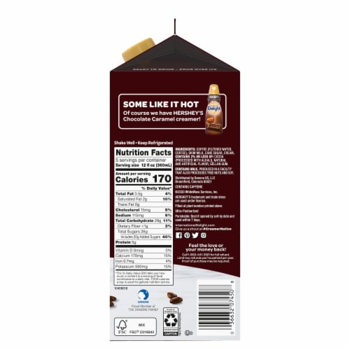International Delight Hershey's Chocolate Caramel Iced Coffee Perspective: right