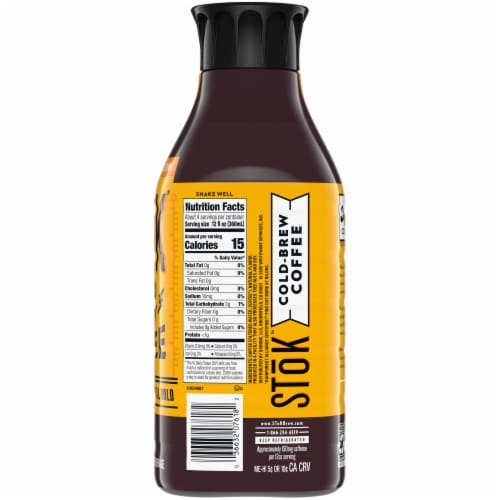 Stok Un-Sweet Black Lighter Roast Cold Brew Coffee Perspective: right