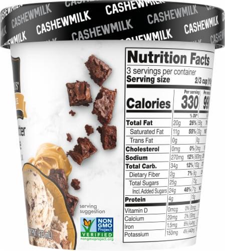 SO Delicious Peanut Butter Brownie Cashewmilk Non-Dairy Frozen Dessert Perspective: right
