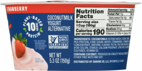Silk® Greek Style Strawberry Coconut Milk Yogurt Alternative Perspective: right