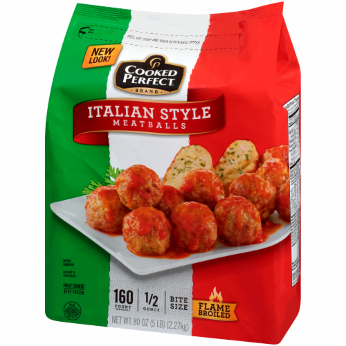 Cooked Perfect Italian Style Meatballs Perspective: right
