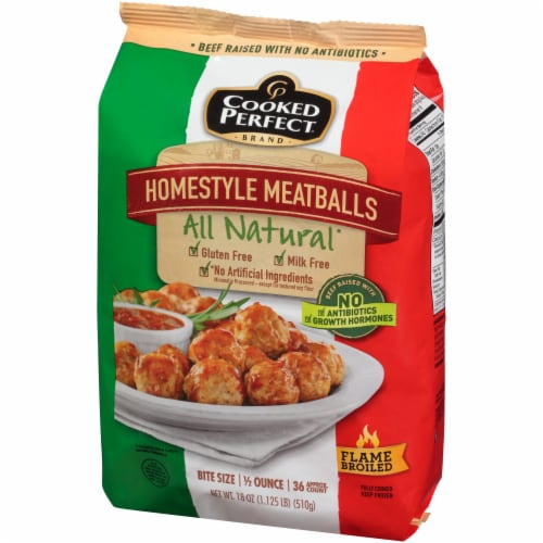 Cooked Perfect Homestyle Meatballs Perspective: right