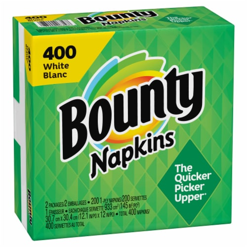 Bounty Paper Napkins - White Perspective: right
