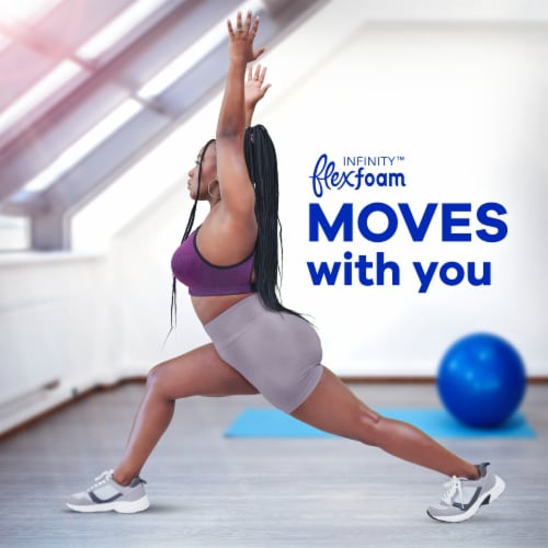 Always Infinity FlexFoam Size 1 Regular Flow Unscented Pads with Flexi-Wings Perspective: right