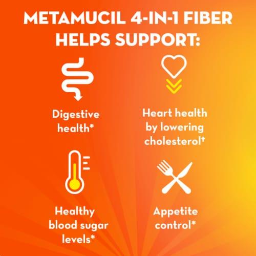 Metamucil Sugar Free Orange Smooth Fiber Powder Dietary Supplement Perspective: right