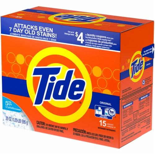 Tide Ultra Original Scent Powder Laundry Detergent Perspective: right