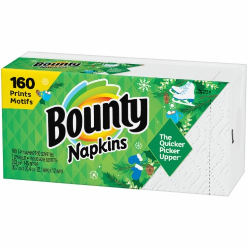 Bounty Spring Paper Napkins 160 Count Perspective: right