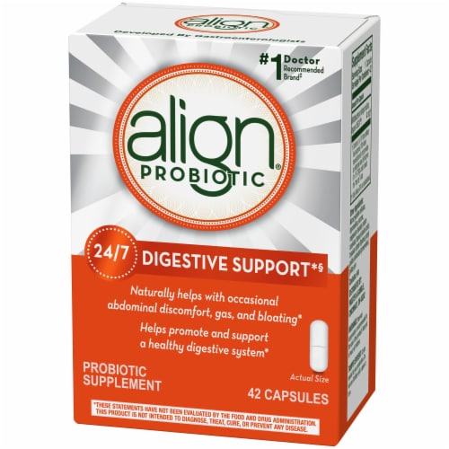 Align Probiotic Supplement Capsules 42 Count Perspective: right