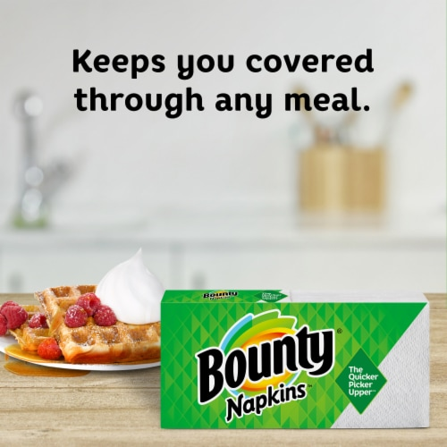 Bounty White Paper Napkins Perspective: right
