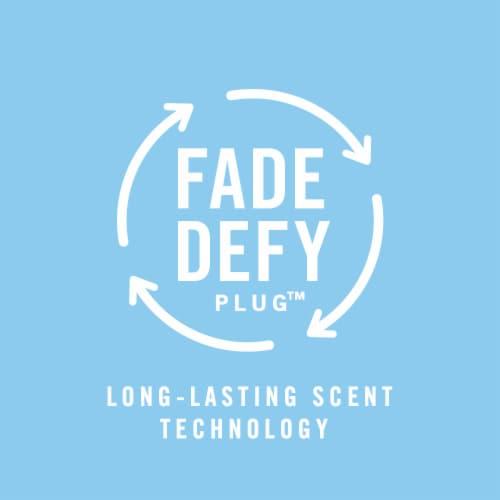 Febreze Odor-Eliminating Fade Defy PLUG Linen & Sky Air Freshener Refill Perspective: right
