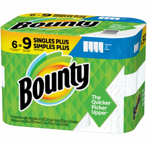 Bounty Select-A-Size Single Plus Roll Paper Towels Perspective: right