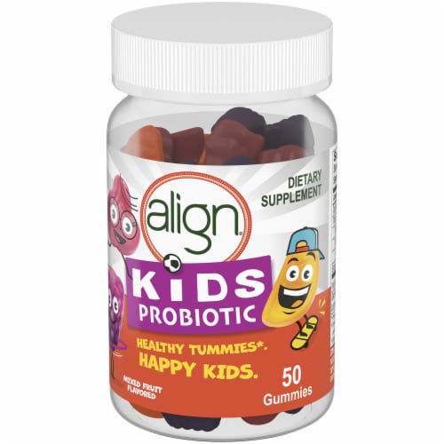 Align Kids Mixed Fruit Probiotic Gummies 50 Count Perspective: right
