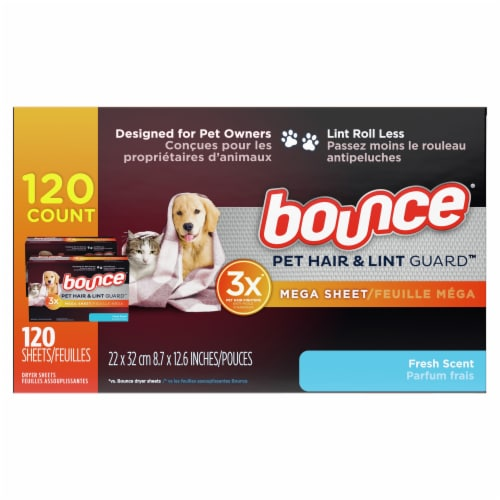 Bounce® Pet Hair and Lint Guard™ Fresh Scent Dryer Sheets Perspective: right