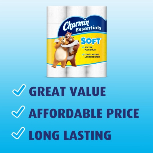 Charmin Essentials Soft Mega Roll Bath Tissue Perspective: right