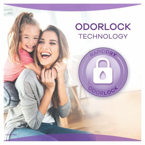 Always Discreet Incontinence Pads for Women Extra Heavy Absorbency Long Length Perspective: right