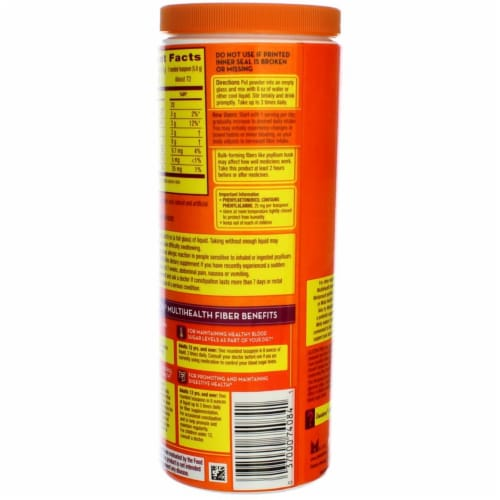 Metamucil Sugar-Free 4-in-1 Orange Flavor Smooth Daily Fiber Supplement Perspective: right