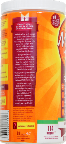 Metamucil Sugar Free Smooth Texture Daily Fiber Supplement Perspective: right