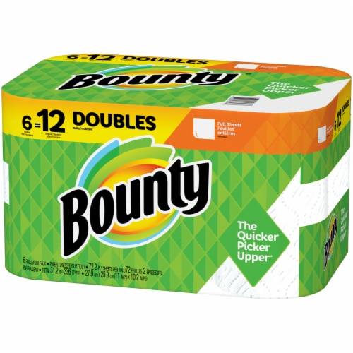 Bounty Doubles White Paper Towels Perspective: right