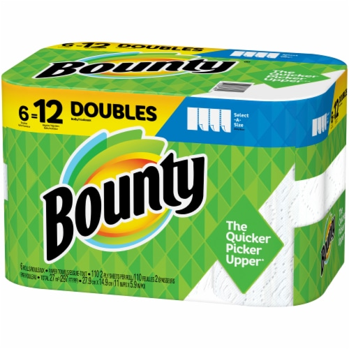Bounty Select-A-Size Double Roll Paper Towels Perspective: right