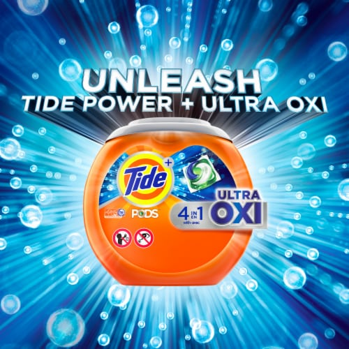 Tide PODS Ultra OXI Laundry Detergent Pacs Perspective: right