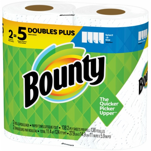 Bounty Select-A-Size Double Plus Rolls Paper Towels Perspective: right