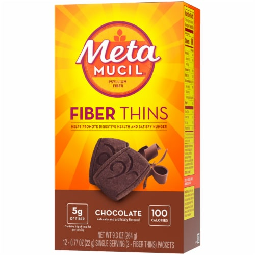 Metamucil Chocolate Fiber Thins Perspective: right