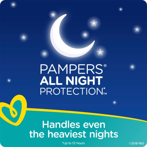 Pampers Swaddlers Overnights Size 3 Baby Diapers Super Pack Perspective: right