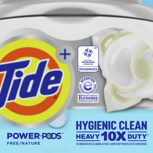 Tide® Power Pods Hygienic Clean Scent Free Laundry Detergent Pacs Perspective: right