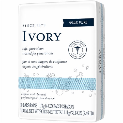 Ivory Original Scent Bar Soap Perspective: right