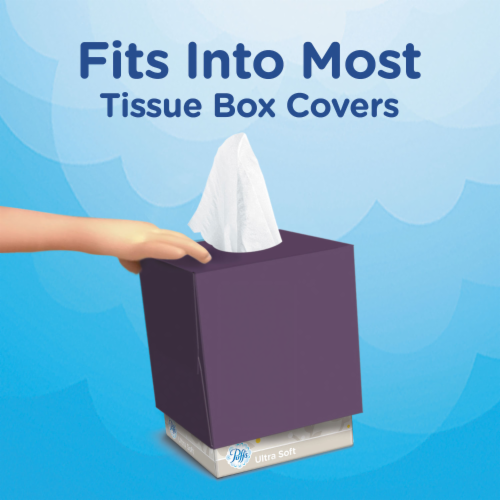 Puffs Everday White Non-Lotion Facial Tissues Perspective: right