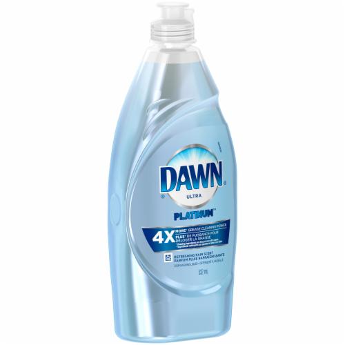 Dawn Platinum Refreshing Rain Scent Dishwashing Liquid Perspective: right