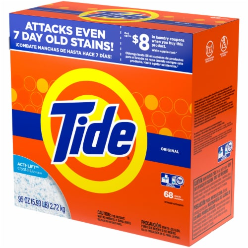 Tide Original Scent Powder Laundry Detergent Perspective: right