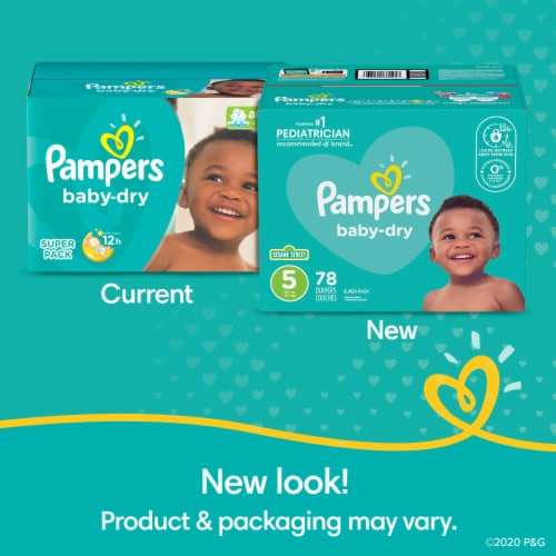 Pampers Baby-Dry Size 1 Diapers Perspective: right