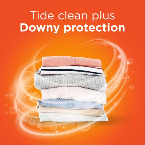 Tide Plus a Touch of Downy April Fresh Liquid Laundry Detergent Perspective: right