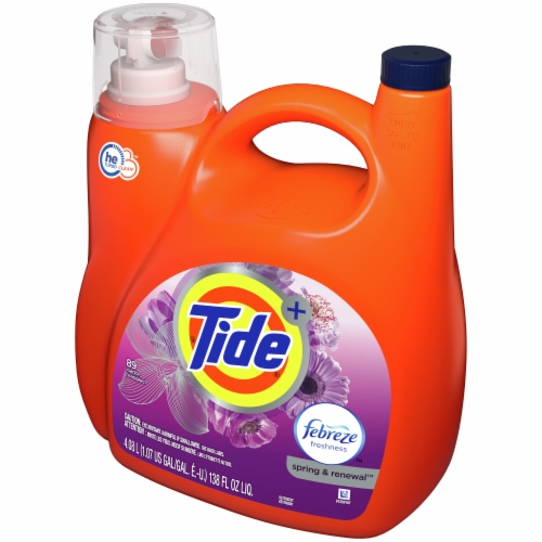 Tide Spring & Renewal Liquid Detergent Perspective: right
